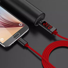 Load image into Gallery viewer, LCD Display 3A Quick Charge Cable 3.0 Micro Type-C Lightning USB Charging Cable