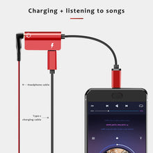 Load image into Gallery viewer, Usb Type Adapter Aux Audio Headphone Converter Typec 3.5mm Earphone Jack for Huawei P Pro Mate20 Lite for Xiaomi Mi8