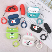 Load image into Gallery viewer, Suitable For Apple Wireless Bluetooth Third-generation Headset Sleeve Silicone Airpods Pro Protective Sleeve Cartoon Storage Box