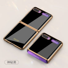 Load image into Gallery viewer, Suitable For Samsung Galaxy Z Flip Folding All-inclusive Mobile Phone Case Creative Electroplated Glass Elk Protective Cover-