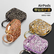 Load image into Gallery viewer, Suitable For Apple Airpods Protective Cover Full Diamond Bluetooth Earphone Protective Shell Plating With Diamond Earphone Cover-