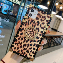 Load image into Gallery viewer, Iphone12 Mobile Phone Shell Tide Brand Leopard-print Rhinestone Bracket Note20ultra Protective Cover