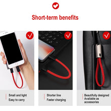 Load image into Gallery viewer, Portable Keychain USB Data cable for iPhone Micro USB Type C Fast Charging Mobile Phone Charger Cable for Samsung Galaxy Xiaomi