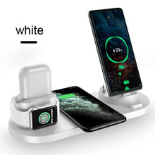 Load image into Gallery viewer, 6 in 1 Wireless Charger Dock Station for iPhone/Android/Type-C USB Phones 10W Qi Fast Charging
