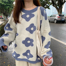 Load image into Gallery viewer, Women fashion Sweaters Winter Women Flower Sweaters