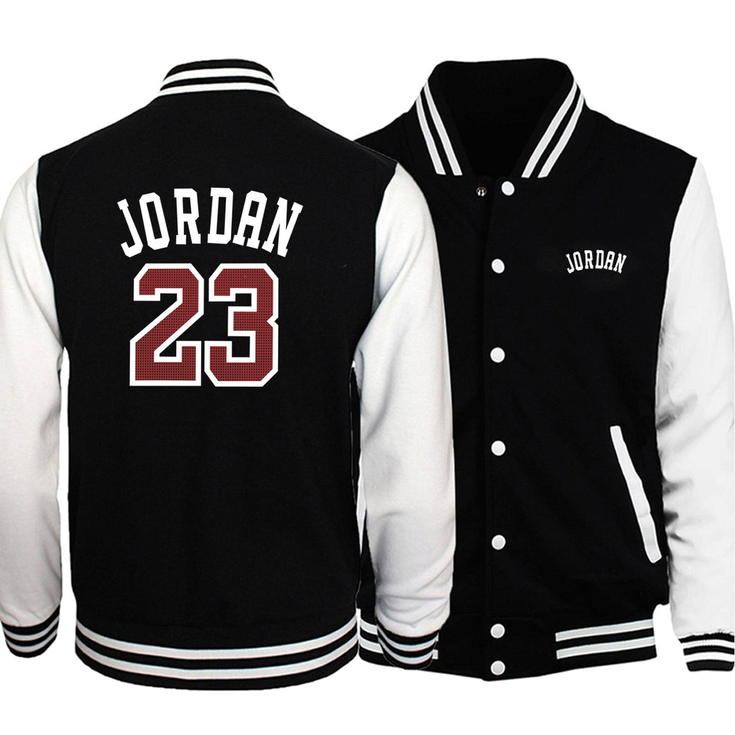 Hot Sale Men Baseball Uniform Coat 2019 Autumn Bomber Jacket Jordan 23 Print Streetwear Casual Tracksuit Hip Hot Men Brand Coats