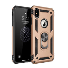 Load image into Gallery viewer, Armor bumper shockproof phone case For iPhone 12 11 Pro XS Max mini XR X 6 6S 7 8 Plus Military Finger Ring Kickstand Back Cover