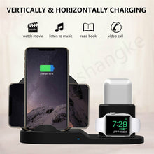 Load image into Gallery viewer, 3in1 Wireless Charger Stand Qi 15W Fast Charging Station, for Apple Watch Series High Quality Free Shipping