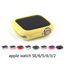 Load image into Gallery viewer, Soft Silicone Case for Apple Watch 3 2 1 42MM 38MM Colorful Cover Full Protection Shell for iWatch 4 5 40MM 44MM Watch Bumper