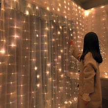 Load image into Gallery viewer, wedding decoration 3m 100/200/300 LED Curtain String Light Flash Fairy Garland Happy New Year 2021 Noel Navidad 2020 home decor