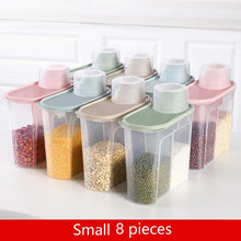 Load image into Gallery viewer, PP Food Storage Box Plastic Clear Container Set with Pour Lids Kitchen Storage Bottles Jars Dried Grains Tank 1.9L-2.5L H1211
