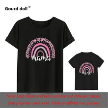 Load image into Gallery viewer, 1pc Fashion  Mama and Mini Rainbow print Family Matching T-shirt Short Sleeve Family Look T-shirts Mother and Daughter Clothes