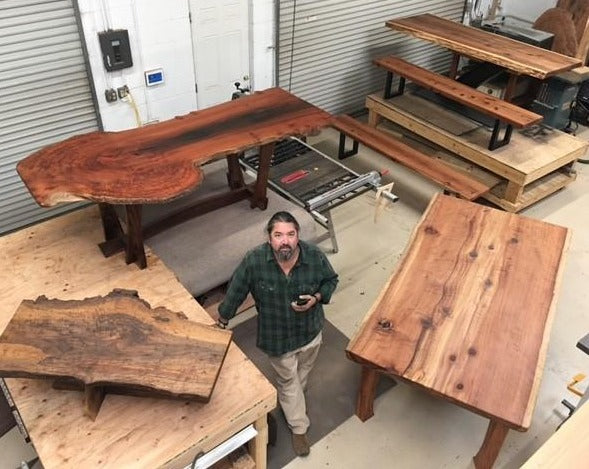 Custom Live Edge Slab Table