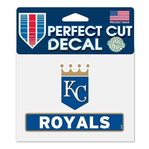 Kansas City Royals Decal 4.5x5.75 Perfect Cut Color Special Order