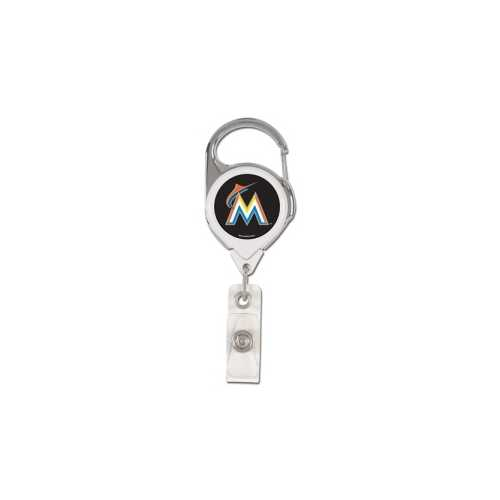 Miami Marlins Retractable Premium Badge Holder Special Order