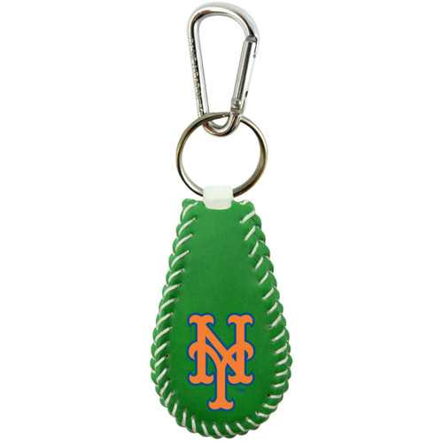 New York Mets Keychain Baseball St. Patrick's Day