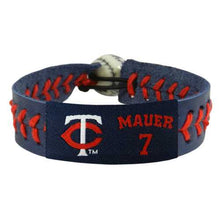 Load image into Gallery viewer, Minnesota Twins Bracelet Team Color Baseball Joe Mauer