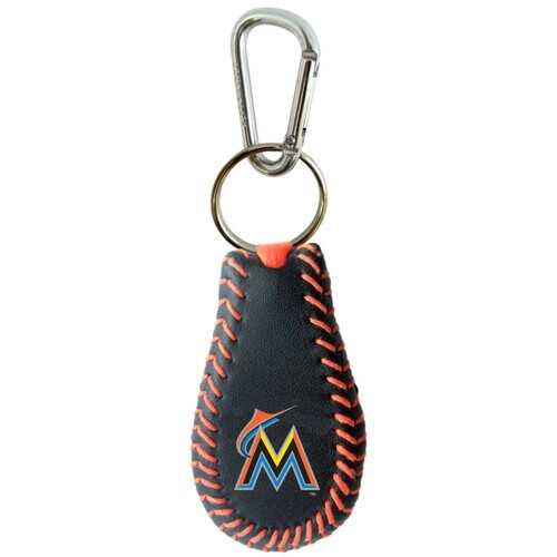 Miami Marlins Team Color Baseball Keychain