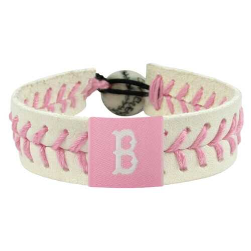 Boston Red Sox Bracelet Baseball Pink