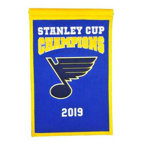 St. Louis Blues Banner 14x22 Wool Championship Special Order