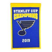 Load image into Gallery viewer, St. Louis Blues Banner 14x22 Wool Championship Special Order