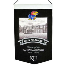 Load image into Gallery viewer, Kansas Jayhawks Banner 15x24 Wool Stadium Allen Fieldhouse Special Order