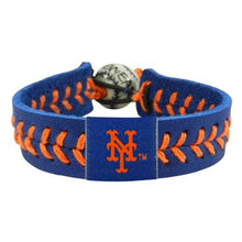 Load image into Gallery viewer, New York Mets Bracelet Team Color Baseball