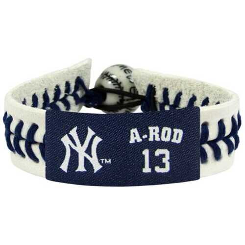 New York Yankees Bracelet Genuine Baseball Alex Rodriguez
