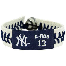 Load image into Gallery viewer, New York Yankees Bracelet Genuine Baseball Alex Rodriguez