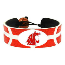 Load image into Gallery viewer, Washington State Cougars Team Color Basketball Bracelet