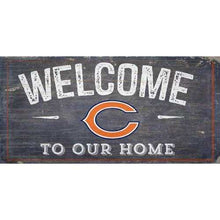 Load image into Gallery viewer, Chicago Bears Sign Wood 6x12 Welcome To Our Home Design Special Order
