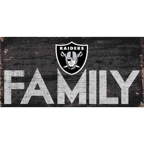 Oakland Raiders Sign Wood 12x6 Family Design Special Order