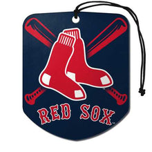Load image into Gallery viewer, Boston Red Sox Air Freshener Shield Design 2 Pack