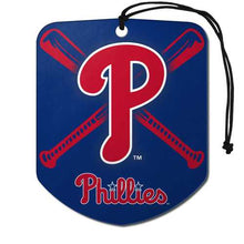 Load image into Gallery viewer, Philadelphia Phillies Air Freshener Shield Design 2 Pack