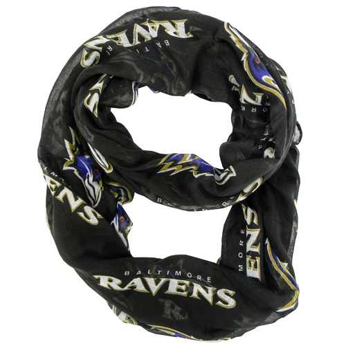 Baltimore Ravens Scarf Infinity Style Alternate