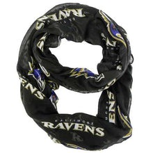 Load image into Gallery viewer, Baltimore Ravens Scarf Infinity Style Alternate