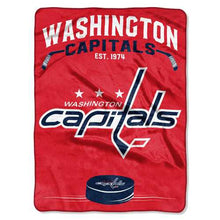 Load image into Gallery viewer, Washington Capitals Blanket 60x80 Raschel Inspired Design