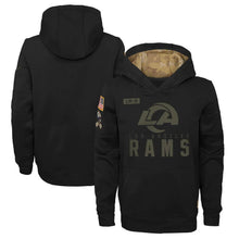 Load image into Gallery viewer, Los Angeles Rams 2020 Salute to Service Pullover Sweatshirt Hoodie