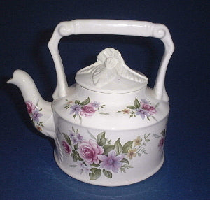 Victorian Tea Kettle (Pink Roses)