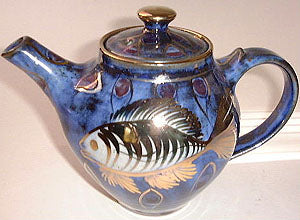 Hand painted lustre fish