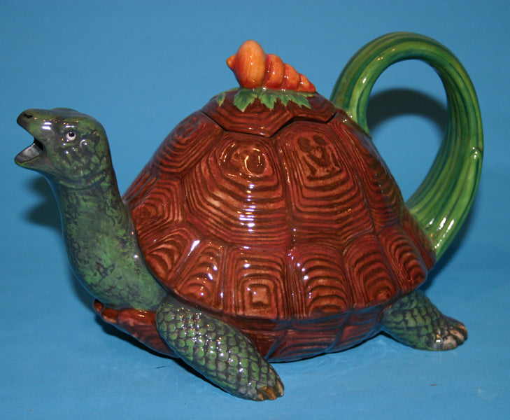 Majolica Tortoise teapot is from the Minton Archive Collection series
