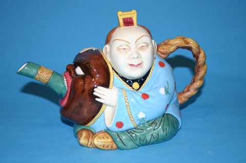 Majolica CHINAMAN or MASK teapot