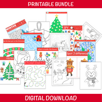 Christmas Coloring and Activity Bundle