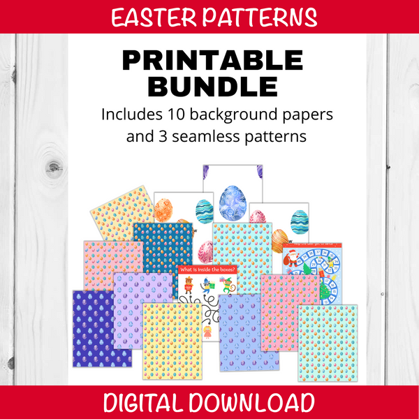 Easter Egg Digital Patterns and Papers, Digital Paper, Egg Digital Paper, Easter Egg Digital Paper, Spring Digital Paper, Pastel Paper