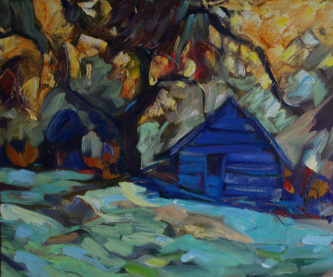 A favourite cabin in the Yukon woods, a hiding place when I need peace and quiet