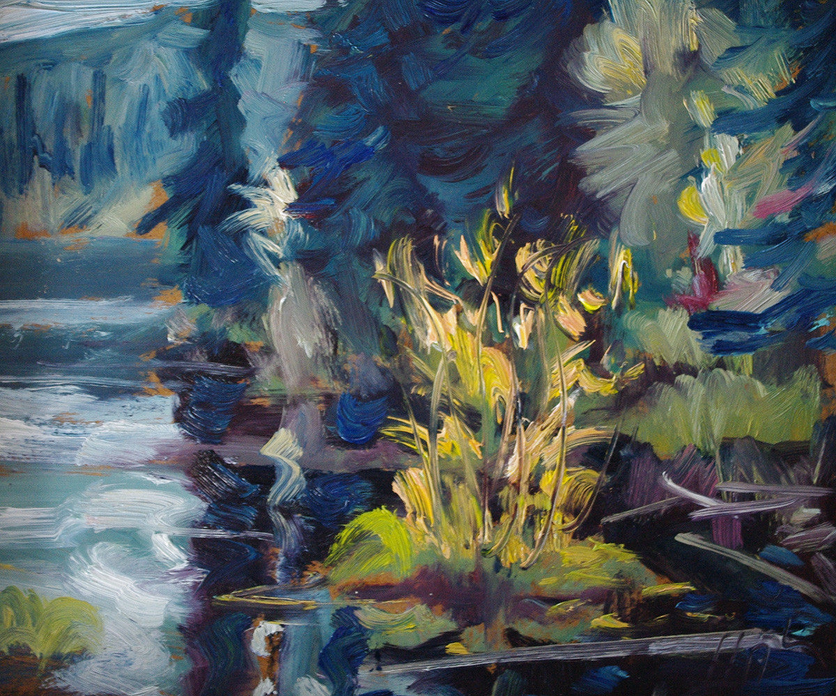 Beaver Pond SOLD - Halin de Repentigny - painting
