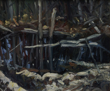 Birch Study - Halin de Repentigny - painting