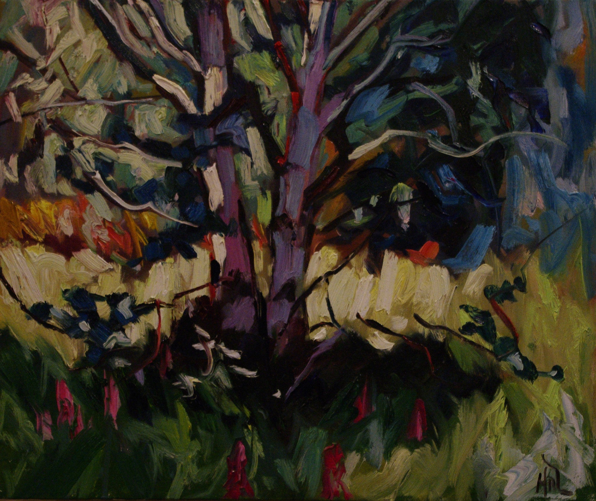 Birches SOLD - Halin de Repentigny - painting