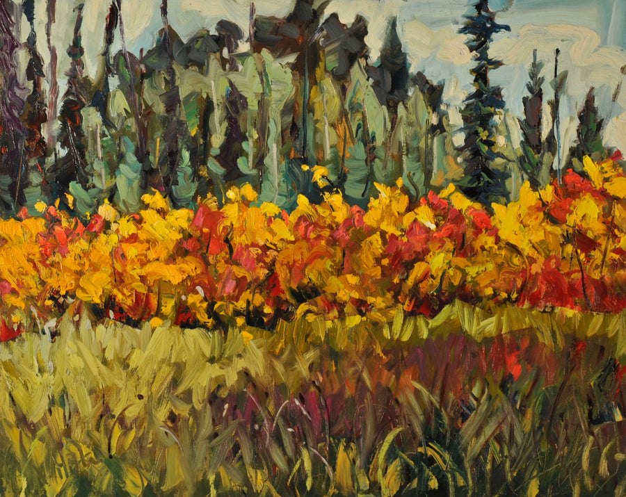 Blooming Yellow SOLD - Halin de Repentigny - painting