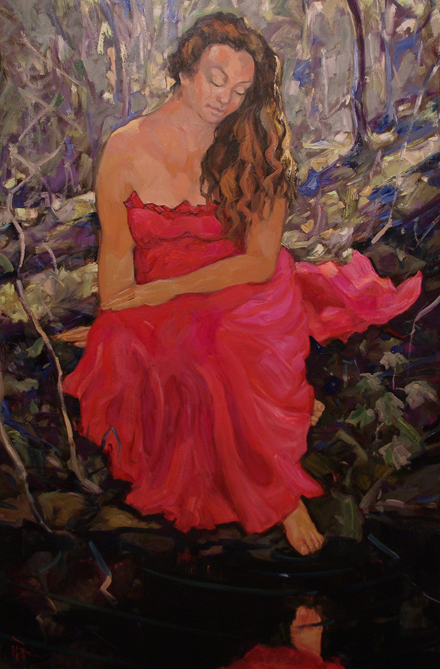 Bush Mermaid - Halin de Repentigny - painting